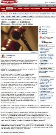 Le plus jeune violeur r cidiviste au qu bec point de for Chambre de la jeunesse montreal