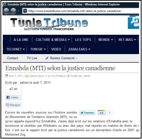 zrig tunis tribune