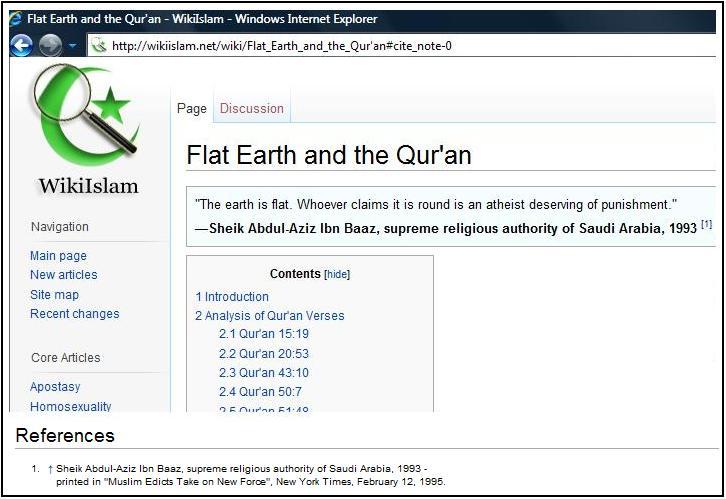Ibn Baz Flat Earth