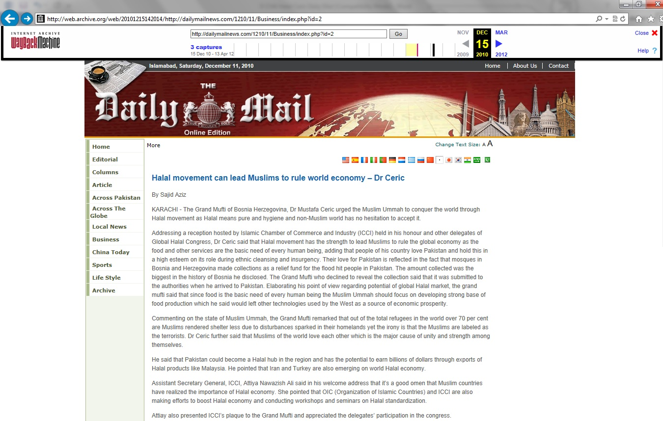 halal ceric daily mail