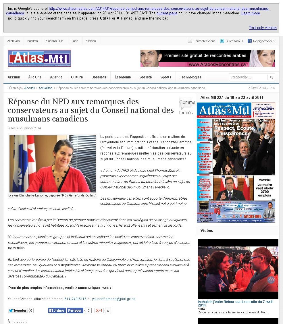 Réponse du NPD aux conservateurs NCCM - Atlas Media 2014-04-25 09-45-53