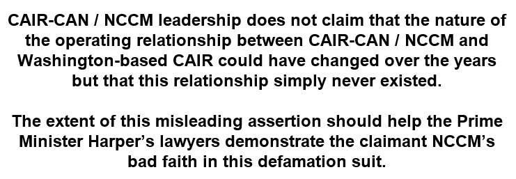 CAIR-MTL Misleading assertion