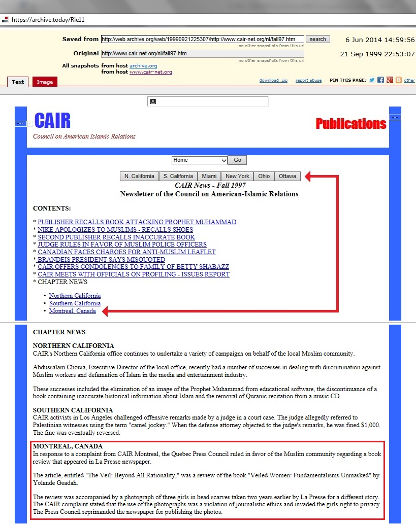 CAIR-MTL Ottawa 1997 Newsletter