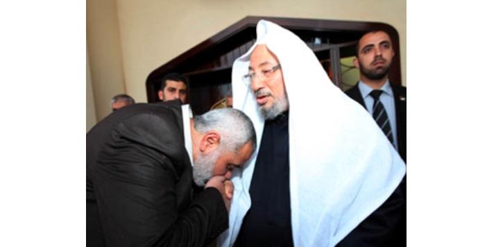 Qaradawi Haniyeh kiss
