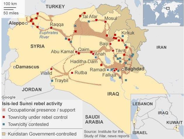 ISIS, Saudi, Qatar, rectangle