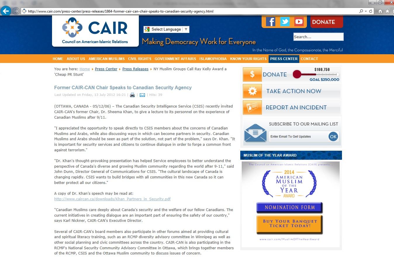 CSIS Sheema Khan 2006 CAIR Report