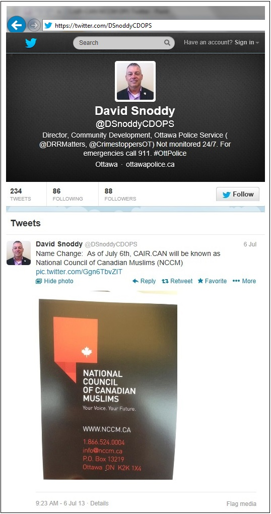 CAIR-CAN NCCM OPS Twitter