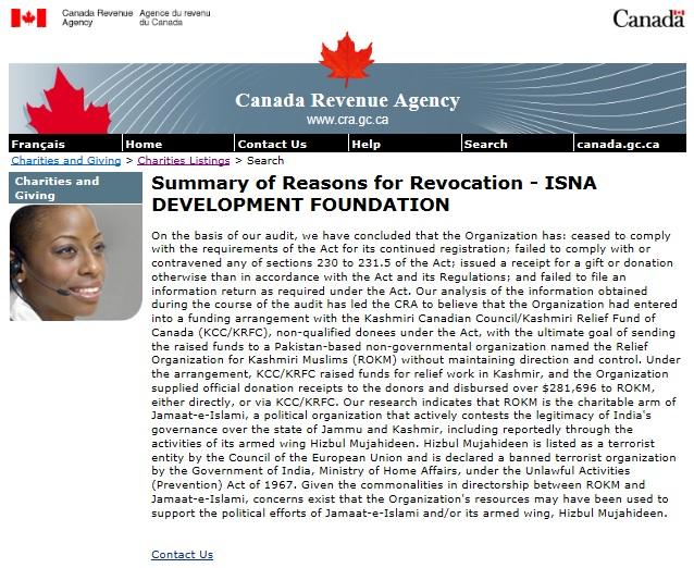 ISNA IDF Revocation CRA