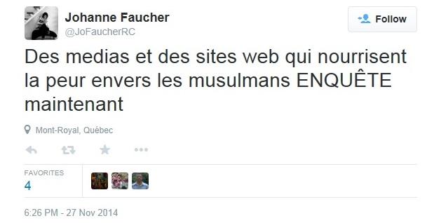 FAUCHER J Twitter 2014 11 27 Peur