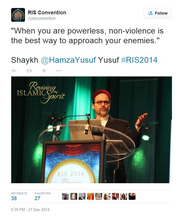 RIS 2014 Hamza Yusuf Violence