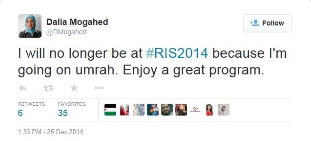 RIS 2014 Mogahed Dalia Absent