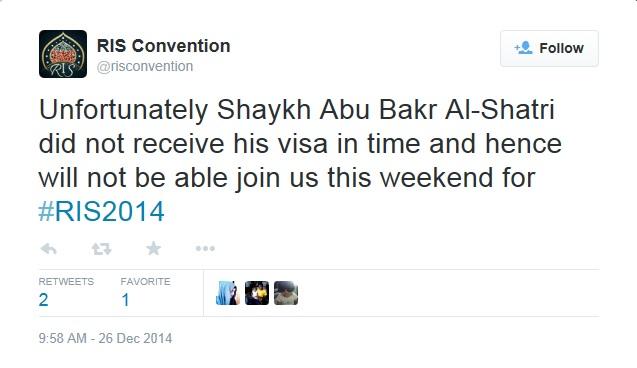 RIS 2014 Shatri No Visa
