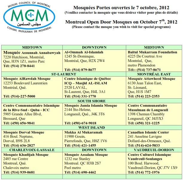 MCM Portes ouvertes Oct 2012