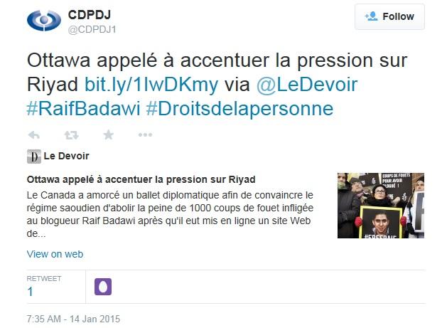 CDPDJ Raif Badawi