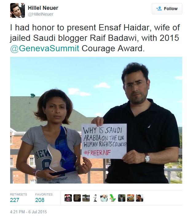 Badawi Raif UN Watch