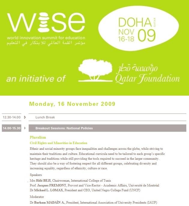 Qatar Foundation 2009 Program