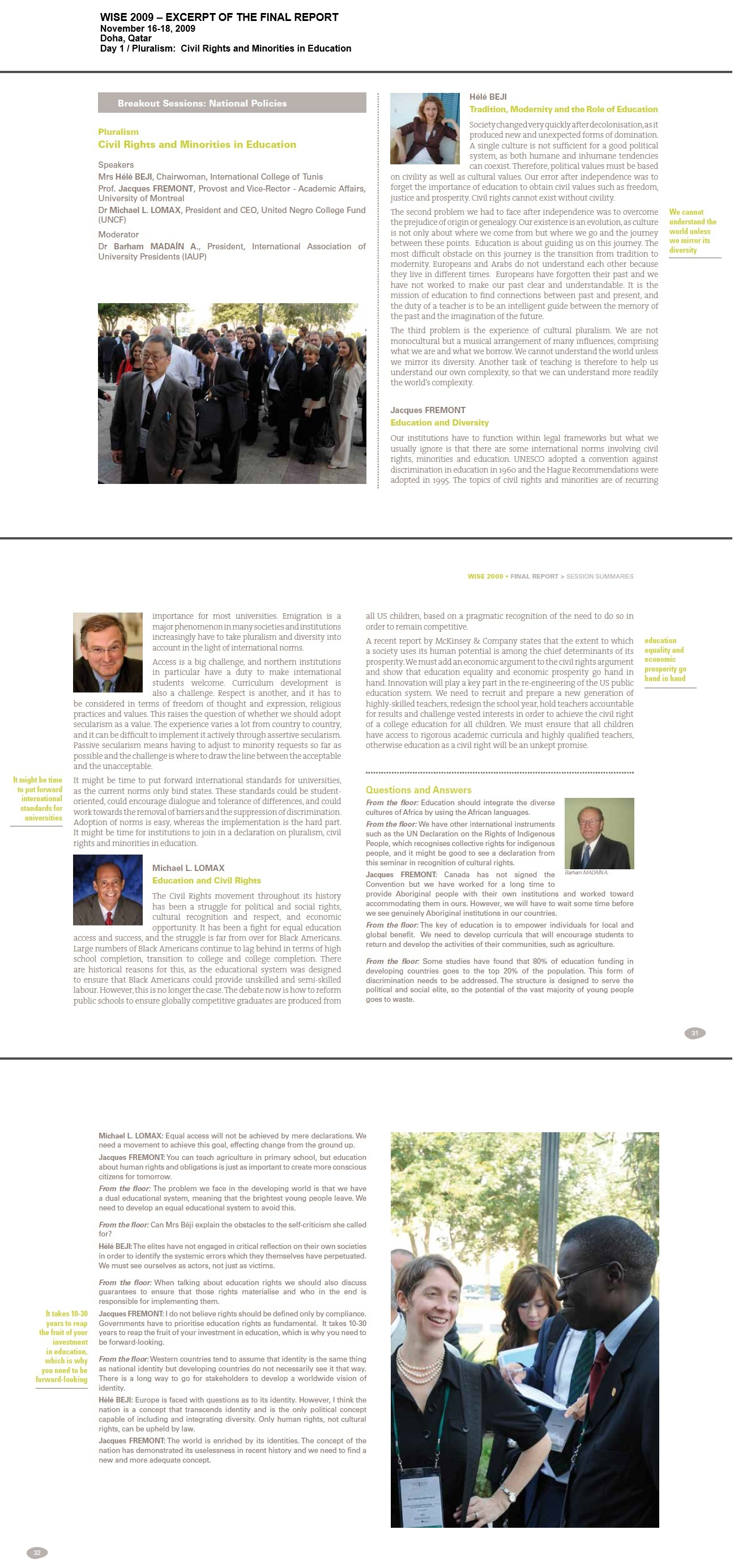 WISE 2009 Excerpt Final Report