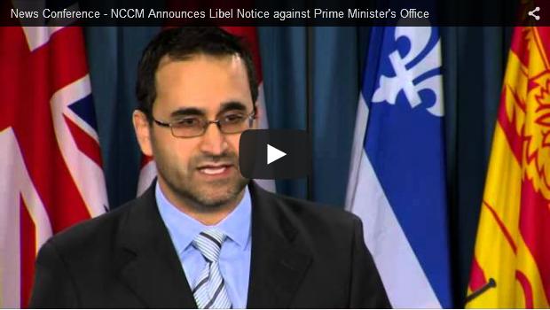 NCCM Libel Notice PM Harper