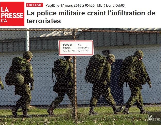 FAC infiltration terroriste