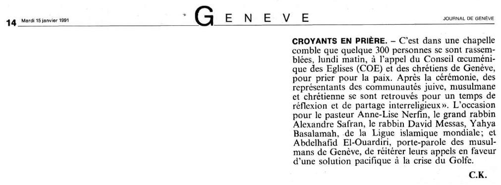 Basalamah Yahya LIM 1991 Genève
