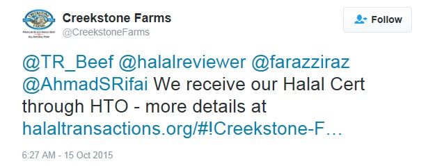 Creeekstone We receive halal HTO WP