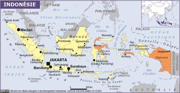 Indonésie Carte WP