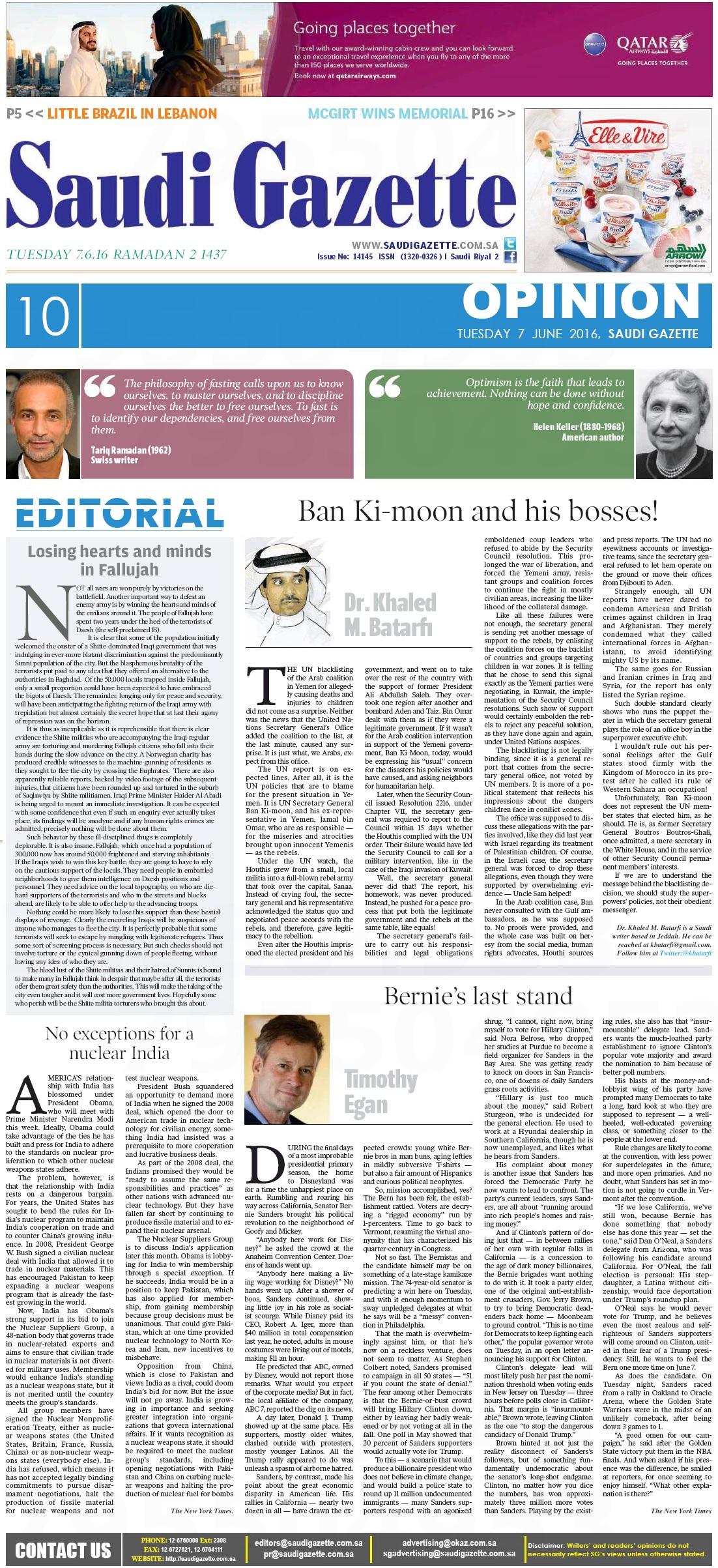 Ramadan T Saudi Gazette 2016-06 Full