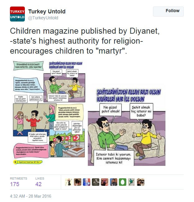 Turkey cartoons martyrs